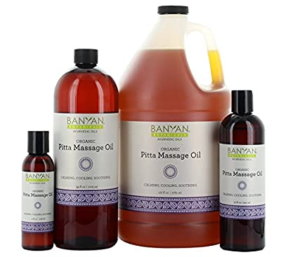 Banyan Botanicals Pitta Massage Oil - Certified Organic - Calming, cooling, soothing - Softens the skin while providing a buffer from the irritations of daily life*