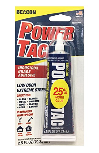 Clear Fabric Dries Adhesive (Beacon Power-Tac 2.5Oz Adhesive)