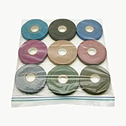 JVCC Spike-Pack Spike Tape Multi-Pack: 1/2 in. x 60 ft. (Black,Burgundy,Dark Blue & Green,Electric Blue,Olive Drab,Purple,Tan,Teal) [9 Rolls/Pack]