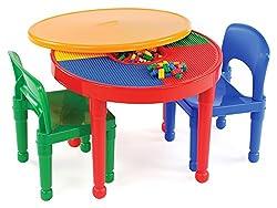 Tot Tutors Kids 2-in-1 Plastic LEGO-Compatible Activity...