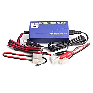6V- 12V Universal Smart Battery Charger for 5S-10S NIMH NICD RC Car Toys Batteries Comes with Temperature Sensor and Tamiya Connectors