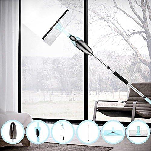 Merisny Set de fregona con vaporizador 2 en 1 con limpieza de ventana, frasco de 500 ml y una cabeza de 360 grados,Para limpieza de la madera dura,el laminado, la madera, el