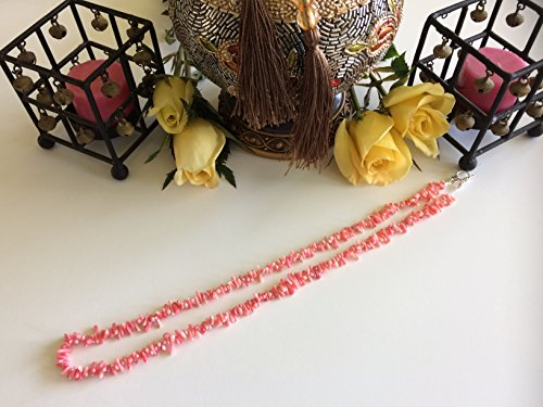 "Bamboo coral, light to dark pink, 24"" necklace with toggle clasp, 6x1mm-10x2mm"