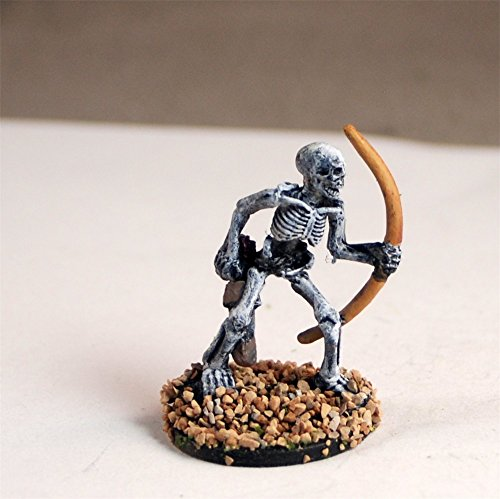 (Skeleton Warrior Ral Partha mini miniature Warhammer Fantasy Dungeons and Dragons D&D 25mm plastic painted)