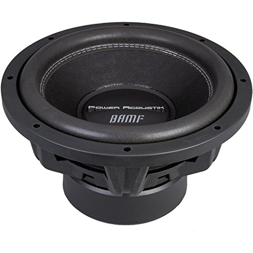 - 1 - 3800W BAMF 15 SUB, POWER ACOUSTIK BAMF_152 3,800-Watt BAMF Series 15 Dual 2_ Subwoofer, 3,800W max, 1,900W RMS, 3 dual 2_, 4-layer voice-coil with direct-connect wire, Overcompensating motor structure for increased magnetic strength, 12mm T-yoke & top plate improve low-frequency dynamics…