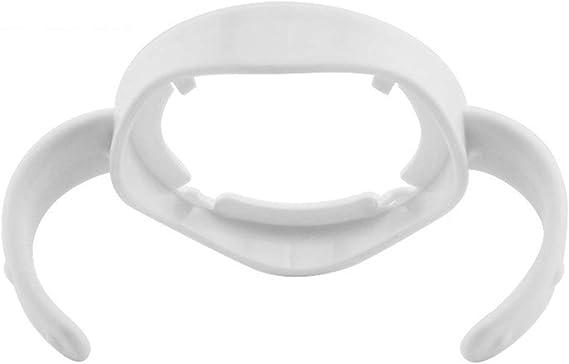 Pr/áctico Calibre ancho Manija universal para empu/ñadura de biber/ón para alimentar Accesorios para biberones PP Asa para biber/ón con empu/ñadura gris blanco