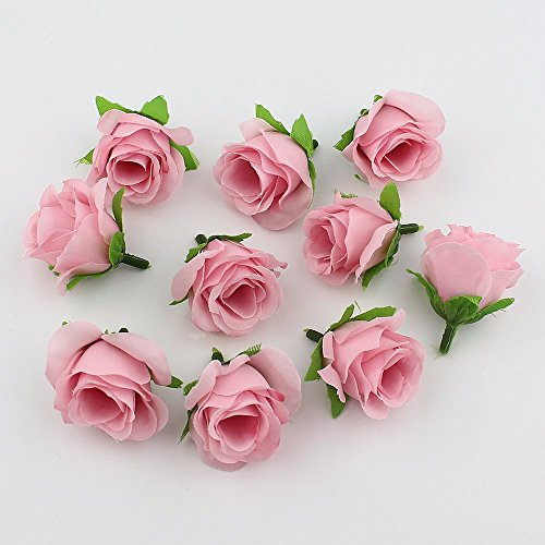 FLOWER 30pieces 3-4cm Artificial silk Rose Head Scrapbooking Ball For Wedding Decoration (pink) - Baby Shower Boutonniere