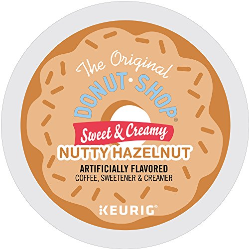 The Original Donut Shop Keurig Single-Serve K-Cup Pods, Sweet and Creamy Hazelnut Medium Roast Coffee, 60 Count (6 Boxes of 10 Pods) (packaging may vary)