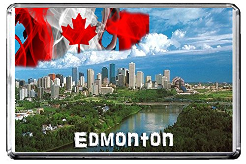 D039 EDMONTON FRIDGE MAGNET CANADA TRAVEL PHOTO REFRIGERATOR MAGNET