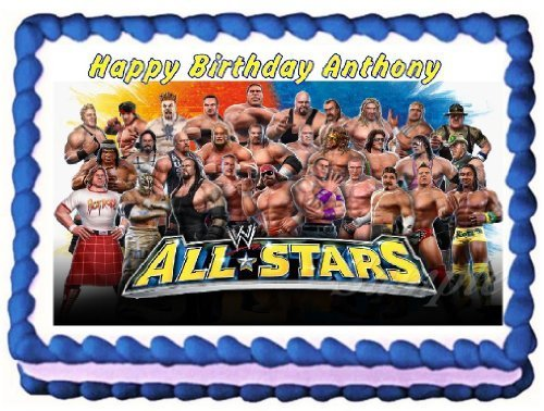 (WWE Allstars Edible Frosting Sheet Cake Topper - 1/4)