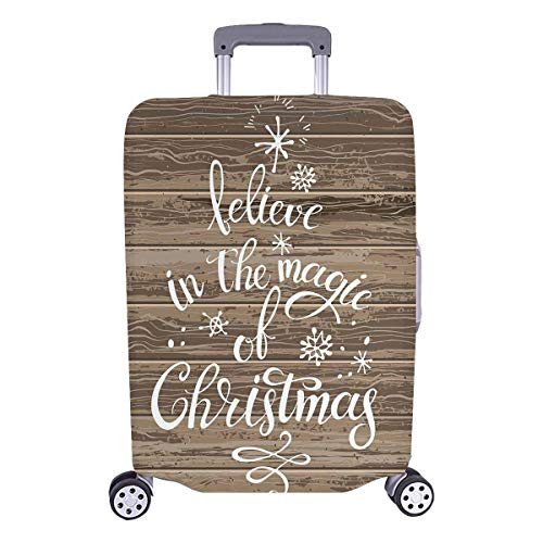 InterestPrint Funny Christmas Inspirational Quotes Travel Luggage Cover Suitcase Baggage Protector Fits 26
