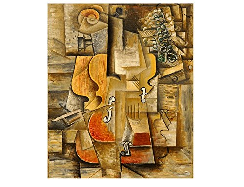 Alonline Art - Violin And Grapes Pablo Picasso VINYL STICKER DECAL 16