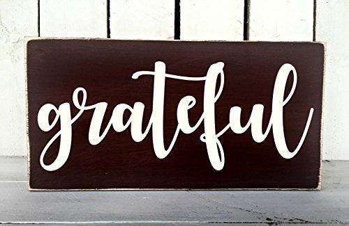 Amazon Com Grateful Rustic Sign Farmhouse Decor Shabby Chic