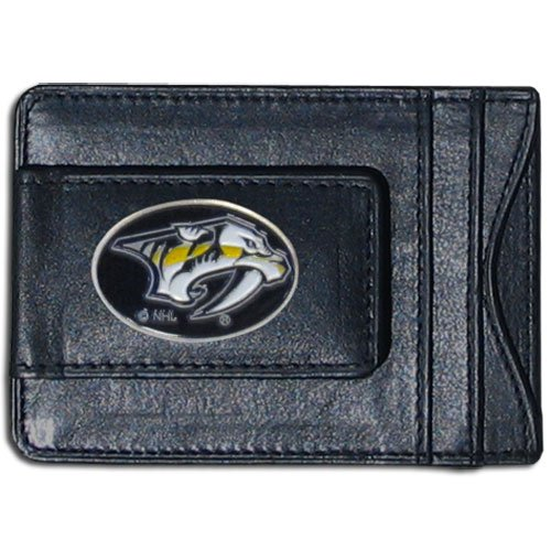 - NHL Nashville Predators Genuine Leather Cash and Cardholder