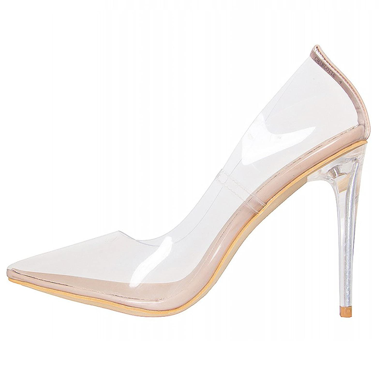 5ab878eafd ... Hell&Heel Clear Stiletto Court Shoes PSP01 - 8 ...