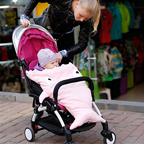 Amazon.com: SooCool Shark Bites Baby Sleeping Bag Newborn Sacks Swaddling Blanket Outdoor Stroller Shark-shaped Bunting Bag (Pink): Baby