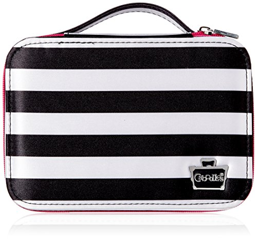 Caboodles Obsession Cosmetic Valet, Black/White Stripe, 0.61 Pound by Caboodles