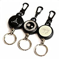 Daixers Retractable Key Chain & Ring,Split Ring Set of 3