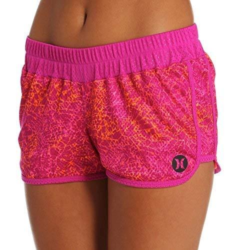 Hurely Womens Dri-Fit Mesh Beachrider Shorts GAB0000670, Fuchsia Flash, - Flash Dri Short Fit