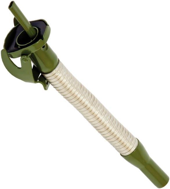 Hünersdorff Pitorro metálico, L=310 mm, flexible Para bidones metálicos para carburante