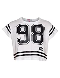 A2Z 4 Kids� Girls Top Kids 98 Print Stylish Fashion T Shirt Crop Top 7-13 Year
