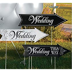 FE Cardboard Wedding Directional Road Signs,Multi-colored