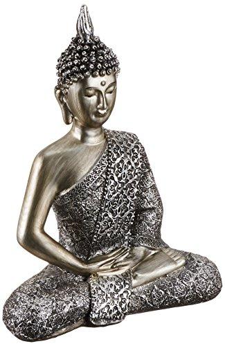 Estatua de Buda meditando de la buena suerte Oriental asiática Estatua de la escultura arte de la mesa decoración D13357