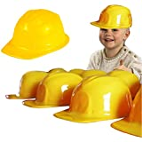 Toy Cubby Mega Pack of 6 - Yellow Plastic Construction Helmets - Pretend Play Hats for All Ages!