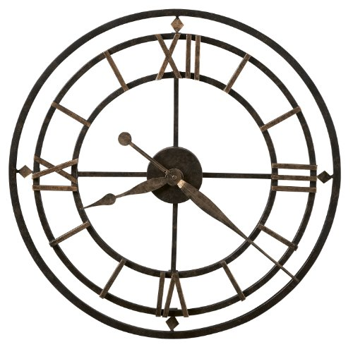 large industrial metal wall clock miller york station digital vintage
