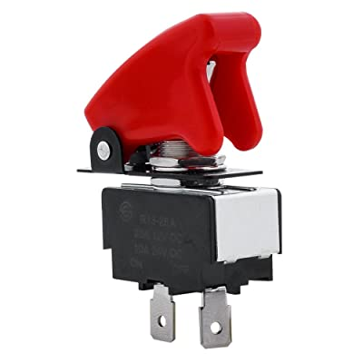 Pilot Automotive PL-SW26 Performance Toggle Switch with Red Safety Cover: Automotive