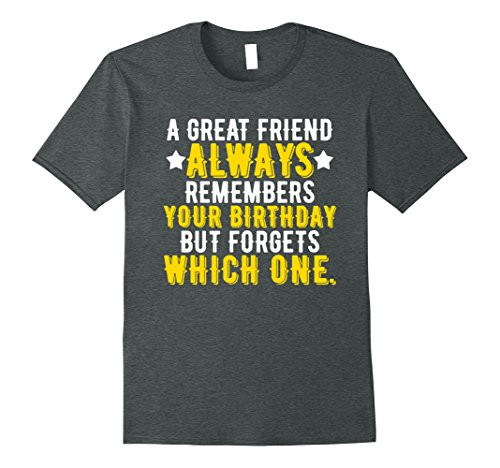 Mens Best Friend Birthday T-shirt, Funny Saying Joke Gifts XL Dark Heather (Good Bday Gifts For Guys)