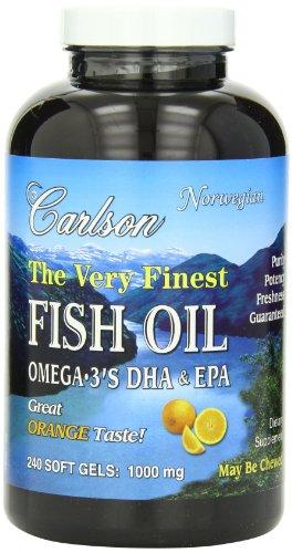 Carlson Fish 1000mg Orange Softgels