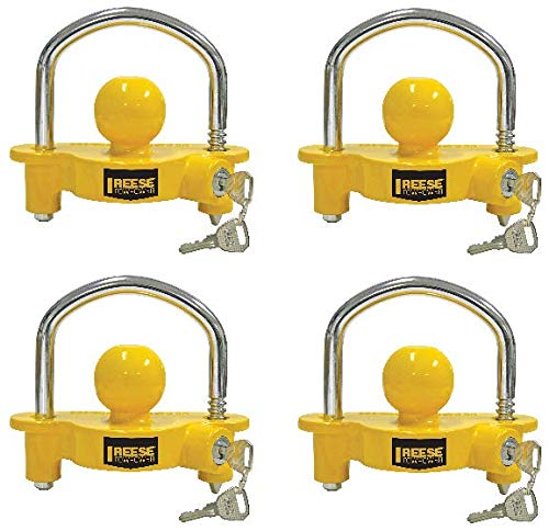 Reese Towpower 72783 Universal Coupler Lock, Adjustable Storage Security, Heavy-Duty Steel (4) by ReeseTowpower