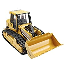 Hugine 6 Channel Alloy RC Dump Truck 2.4Ghz Full Function Remote Control Construction Vehicle Dump Truck with LED Turn Signals and Sound