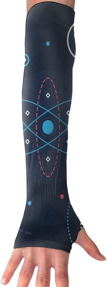 MASDUIH Science Starry Sky Gloves Anti-uv Sun Protection Long Fingerless Arm Cooling Sleeve for Men and Women
