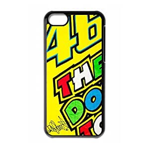 iPhone 5c Cell Phone Case Black Valentino Rossi as a gift L1048809
