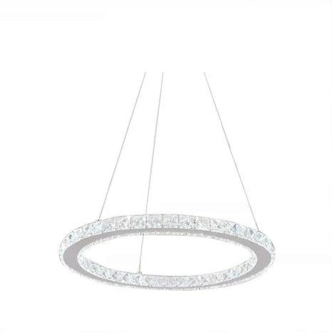 AILVO Chandelier, 1 Ring 50CM Lámpara de techo de cristal ...