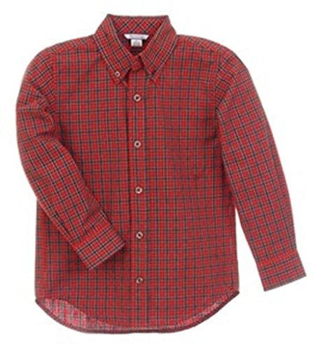 Hartstrings Big Boys' Plaid Woven Button-down Shirt - Shirt Plaid Hartstrings