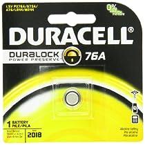 Duracell 76A Medical Battery 1.5 Volt Alkaline,  1 Count