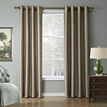 LOHASCASA Blackout Curtain Liner Noise Reduction Room Darkening Thermal Insulated Black Out Curtain 1 Panels Window Drapes and Curtains for Living Room or Bedroom(52 By 84 Inch Gold)