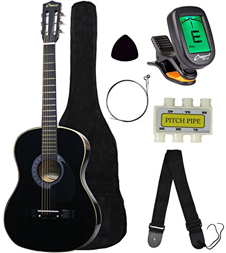 "Crescent MG38-BK 38"" Acoustic Guitar Starter Package, Black"