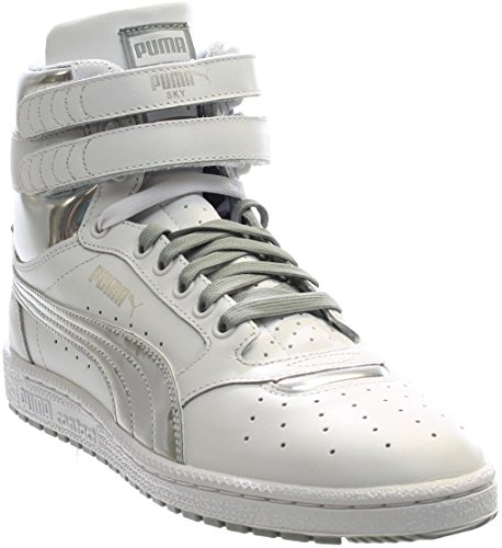 PUMA Men's Sky II HI FG Foil Fashion Sneaker, White Silver, 12 M US -