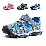 JACKSHIBO Girls Boys Summer Beach Breathable Athletic Closed-Toe Sandals for Kids(Toddler/Little Kid/Big Kid) Grey-33