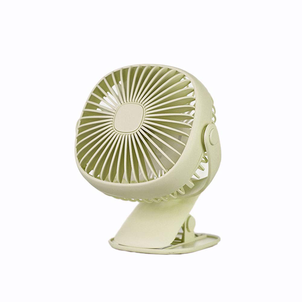 DHMHJH Mini USB Small Fan Portable Rechargeable Student Dormitory Silent Desktop Clip Fan 3 Colors Optional