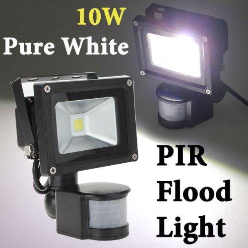 (HQ) 10W White 800LM PIR Motion Sensor Security LED Flood Light 85-265V