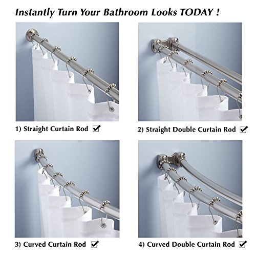 From Usa Shower Icon Rustproof Stainless Steel Shower Curtain Rings Hook With Balls Polished