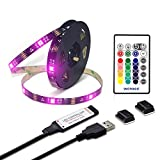 WENICE TV Backlight 9.9ft for 40 to 65inch TV, USB led Strip Lights Kit with 24key IR Remote 16 Color 5050 LEDs Bias Lighting for HDTV
