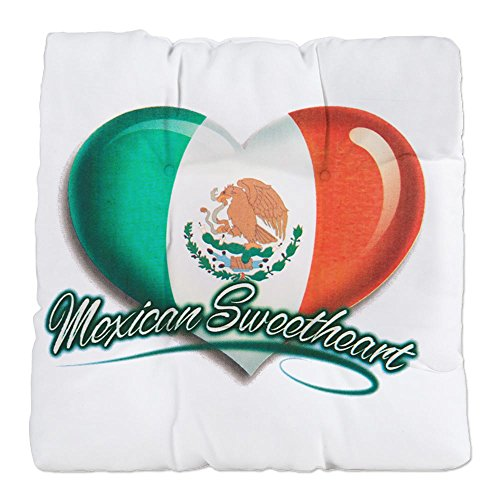 Tufted Chair Cushion Mexican Sweetheart Mexico Flag by Royal Lion