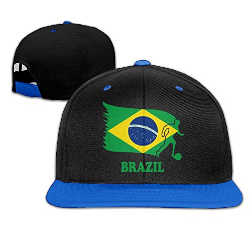AJHGD Brazil Football Soccer Flag Unisex Hip-Hop Flatbrim Snapback Hats Contrast Color Baseball Cap Hats for Men - Brazil Soccer Cap