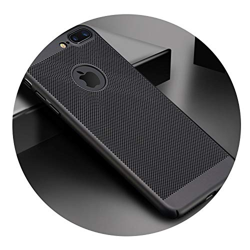 Ultra Slim Phone Case for iPhone 6 6s 7 8 Plus Hollow Heat Dissipation Cases Hard PC for iPhone 5 5S SE X S MAX,Black,for iPhone Xs MAX (Iphone 5 S Case London)